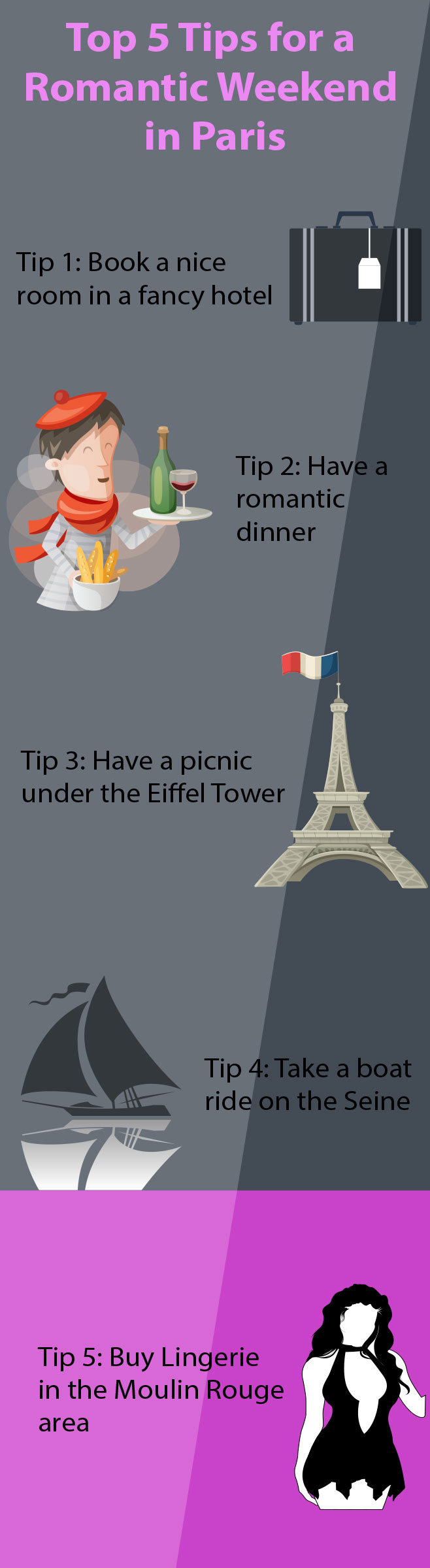 most Romantic things to do in Paris infographic