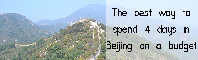 4 days in Beijing