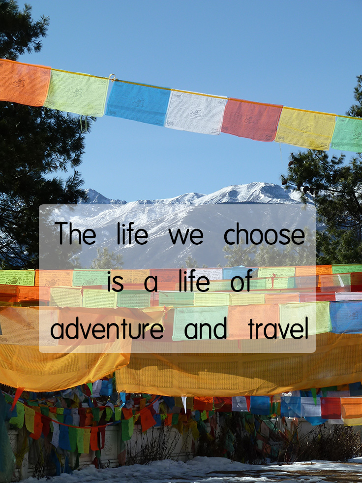 life of adventure and travel