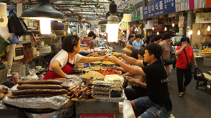 gwangjang market in seoul - Our Travels